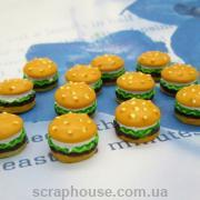 Шармик для слаймов Гамбургер. Размер 1,0х0,9 см